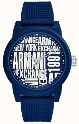 Armani Exchange Bracelet en silicone pour homme AX1444