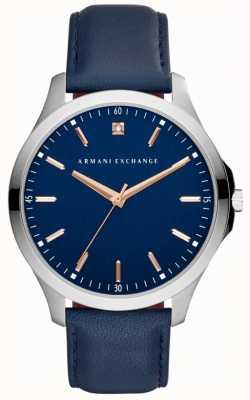 Armani Exchange Bracelet en cuir hampton pour homme AX2406