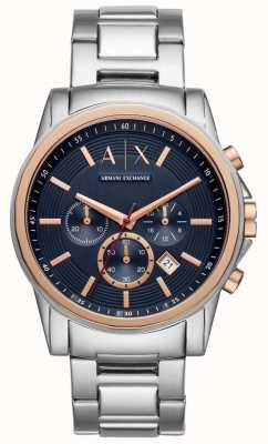 Armani Exchange Bracelet extérieur en acier inoxydable pour homme AX2516