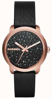 Diesel Womens flare roches bracelet en cuir DZ5520