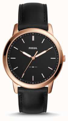 Fossil Mens le bracelet en cuir minimaliste FS5376