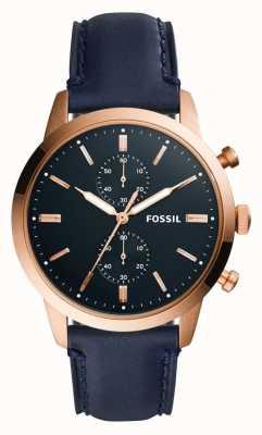 Fossil Bracelet en cuir pour homme 44mm townsman FS5436