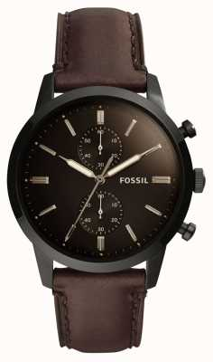 Fossil Bracelet en cuir pour homme 44mm townsman FS5437