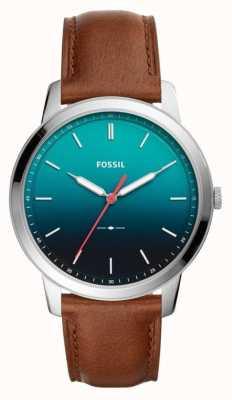 Fossil Mens le bracelet en cuir minimaliste 3h FS5440