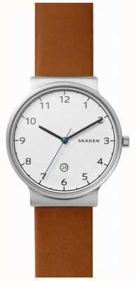 Skagen Bracelet en cuir ancher pour homme SKW6433