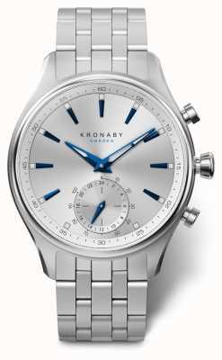 Kronaby 41mm sekel argent cadran bracelet en acier inoxydable A1000-3121
