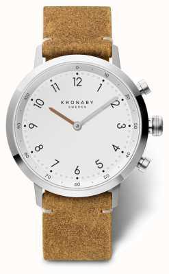 Kronaby Cuir suède brun nordique de 41 mm en acier inoxydable a1000-3128 S3128/1