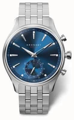 Kronaby Bracelet en acier inoxydable cadran bleu sekel 41mm A1000-3119