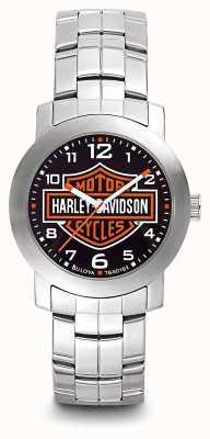 Harley Davidson Bracelet en acier inoxydable pour homme avec logo 76A019