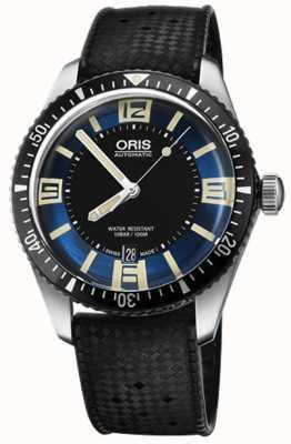 Oris Divers soixante-cinq bracelet en caoutchouc automatique cadran bleu 01 733 7707 4035-07 4 20 18