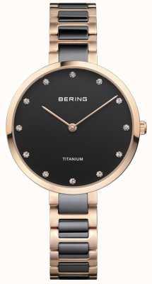 Bering Cadran en or rose et en titane noir 11334-762