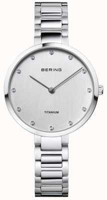 Bering Boîtier en titane et bracelet en cristal 11334-770