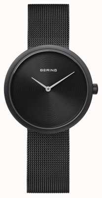 Bering Bracelet classique en filet noir mat noir 14333-222