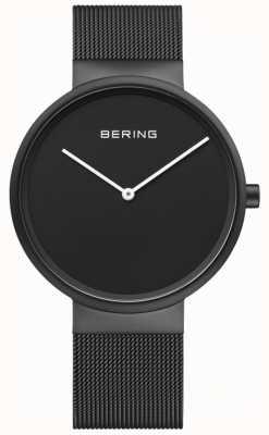 Bering Bracelet en maille enduit ip noir cadran noir classique hommes 14539-122