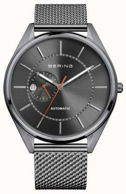 Bering Affichage automatique de la date gris cadran bracelet en acier inoxydable 16243-377
