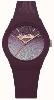 Superdry Étui et bracelet en silicone à paillettes pour femmes SYL179R