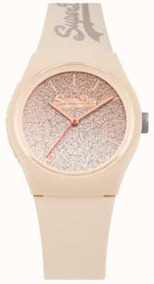 Superdry Étui et bracelet en silicone à paillettes pour femmes SYL179C