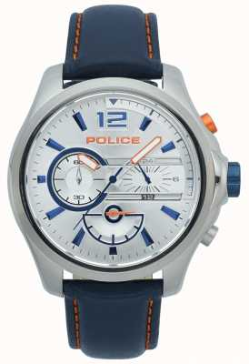 Police Chronographe denver hommes bracelet en acier inoxydable bracelet en cuir 15403JS/04