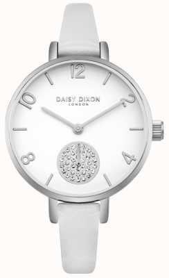 Daisy Dixon Bracelet alice en cuir pour femme avec bracelet en cuir blanc DD075WS