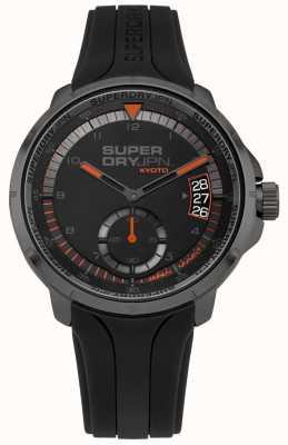 Superdry La date de kyoto d'hommes montre le bracelet en silicone noir SYG217BB