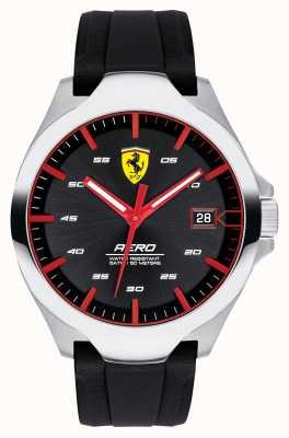 Scuderia Ferrari Montre aero date hommes cadran noir bracelet en silicone 0830506