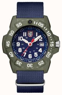 Luminox Navy seal série 3500 affichage de la date face bleue lunette verte XS.3503.ND