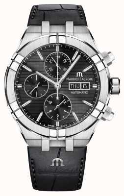 Maurice Lacroix Aikon chronographe automatique bracelet en cuir noir AI6038-SS001-330-1