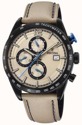 Festina Chronogramme sport pour homme en cuir crème avec bracelet crème F20344/1