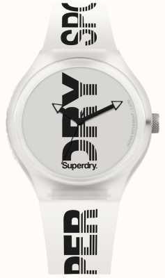 Superdry Urban xl sport bracelet en silicone blanc SYG189W