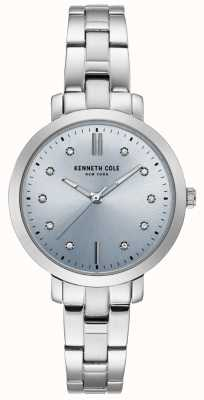 Kenneth Cole Womens diamant en acier inoxydable boîtier et bracelet montre KC15173004