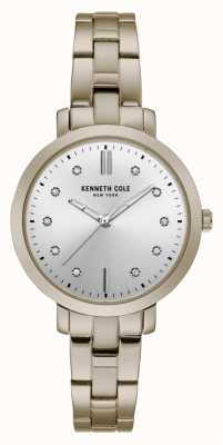 Kenneth Cole Womens diamond set or boîtier en or bracelet montre KC15173006