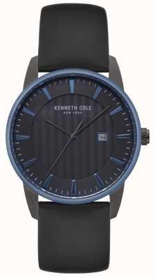 Kenneth Cole Robe noire pour homme en cuir noir KC15204004