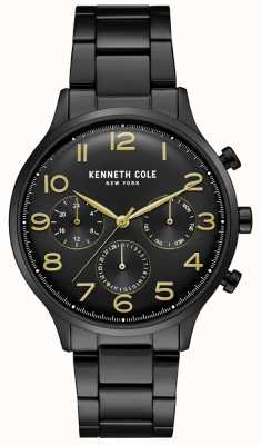 Kenneth Cole Montre chronographe homme noir pvd KC15185001