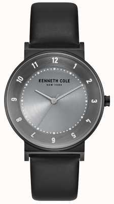 Kenneth Cole Womens boîtier en bronze avec bracelet en cuir noir KC50074001