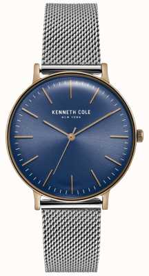 Kenneth Cole Montre en acier inoxydable cadran bleu foncé KC15183003