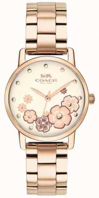 Coach Montre femme grand rose plaqué or 14503057