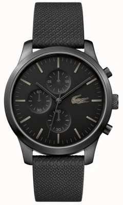 Lacoste Mens 12.12 85e anniversaire triple montre noire 2010947