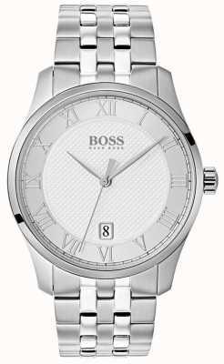 Hugo Boss Montre pour homme en acier inoxydable avec cadran argenté 1513589