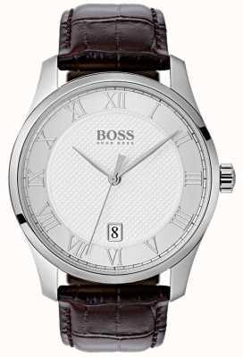 Hugo Boss Montre pour homme en cuir avec cadran bleu 1513586