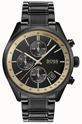 Hugo Boss Montre grand prix noir ip / or pour homme 1513578