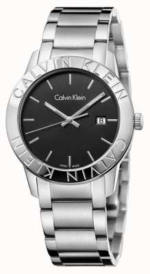 Calvin Klein Cadran noir stable en acier inoxydable K7Q21141
