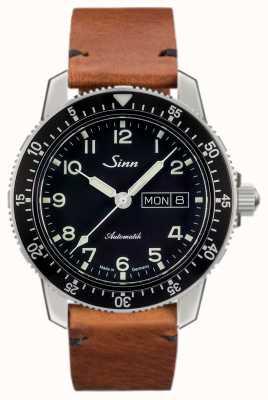 Sinn 104 st sa une montre de pilote classique brun clair vachette vintage 104.011-BL50205002401A
