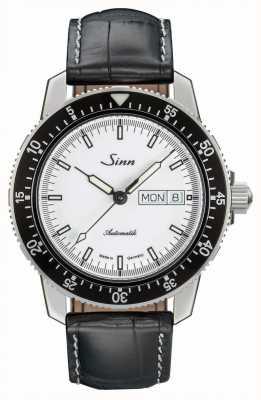Sinn 104 st sa iw classique montre pilote alligator cuir gaufré 104.012-BL44201851001225401A