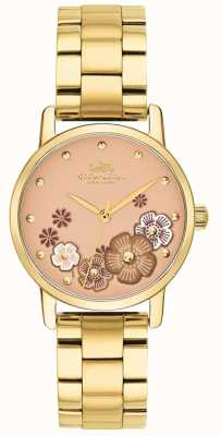 Coach Womens grand or plaqué bracelet pvd 14503056