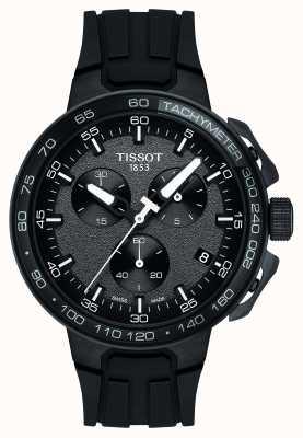 Tissot Bracelet t-course cyclisme noir pour homme en silicone noir T1114173744103