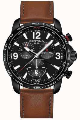 Certina Homme sport ds podium precidrive chrono bracelet en cuir marron C0016473605700