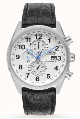 Citizen Bracelet chrono en cuir chrono à édition limitée et contrôlé par radio AT8038-08A