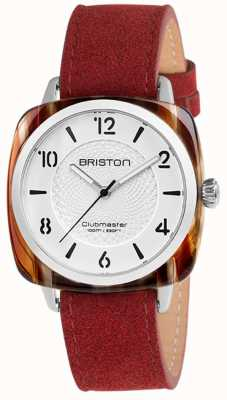 Briston Bracelet Clubmaster chic rouge bracelet blanc 18536.SA.RE.2G.LNR