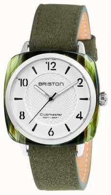 Briston Bracelet Clubmaster chic blanc cadran vert 18536.SA.GE.2G.LNGA