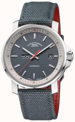 Muhle Glashutte La montre 29er tag datum en acier inoxydable gris M1-25-34-NB